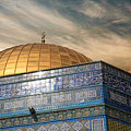 Jerusalem - Dome Of The Rock Sky by Munir Alawi