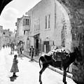 Jerusalem Street In 1914 by Munir Alawi