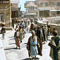 Jerusalem Street Scene by Granger
