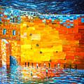 Jerusalem Wailing Wall Original Acrylic Palette Knife Painting by Georgeta Blanaru