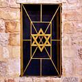 Jerusalem Window On Mt. Zion Israel by Brian Tada