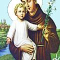 Jesus And Saint Anthony by Munir Alawi