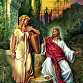 Jesus And The Woman At The Well by John Lautermilch