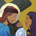 Jesus And Veronica by Sara Hayward