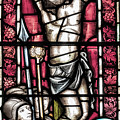 Jesus Christ Crucifixtion Stained Glass by Antony McAulay