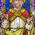 Jesus Christ Stained Glass by Antony McAulay