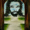 Jesus Face In Vines by Michael Vigliotti