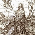 Jesus In The Garden Of Gethsemane by Norma Boeckler