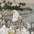 Jesus Preaching By The Seashore by Tissot