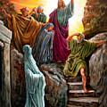 Jesus Raises Lazarus by John Lautermilch