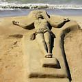 Jesus Sand Sculpture by Rich Stedman