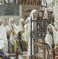 Jesus Unrolls The Book In The Synagogue by Tissot
