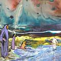 Jesus Walking On The Water by Miki De Goodaboom
