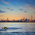Jetski And Toronto Skyline by Les Palenik