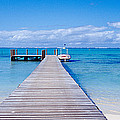 Jetty On The Beach, Mauritius by Panoramic Images