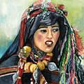 Jeune Femme Berbere De Atlas Marocain by Josette SPIAGGIA