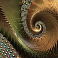 Jewel And Spiral Abstract by Marianna Mills