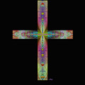 Jeweled Cross On Black by Gordon Beck