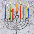 Jewish Holiday Hannukah Symbols - Menorah by Valentyn Semenov