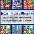 Jewish House Blessing City Of Jerusalem by Sandra Silberzweig