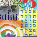 Jewish Life 1- Art By Linda Woods by Linda Woods