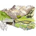 High Pastures,   Col De La Cayolle by Joan Cordell