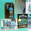 Jim Beam Signs On Display - Color Invert by Marian Bell