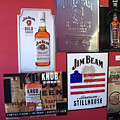 Jim Beam Signs On Display by Marian Bell