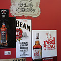 Jim Beam's Old Crow And Red Stag Signs by Marian Bell