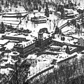 Jim Thorpe Pennsylvania In Winter In Black And White by Bill Cannon