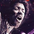Jimi Hendrix by Afterdarkness