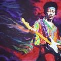 Jimi Hendrix Dissolve by Ken Meyer