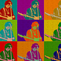 Jimi Hendrix In The Style Of Andy Warhol by Anthony Murphy