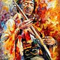 Jimi Hendrix  by Leonid Afremov