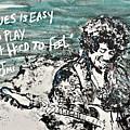 Jimi Hendrix by Reba Arts