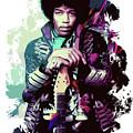 Jimi Hendrix, The Legend by Andrea Mazzocchetti