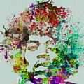 Jimmy Hendrix Watercolor by Naxart Studio