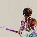 Jimmy Hendrix With Guitar by Naxart Studio
