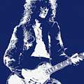 Jimmy Page In Blue Portrait by Andrea Mazzocchetti