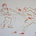 Jive Dancing Couple by Mike Jory