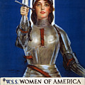 Joan Of Arc Saved France. Women Of America Save Your Country. Buy War Savings Stamps by Haskell Coffin