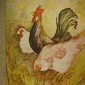 Joanna'sthree Chickens by Georgia Annwell