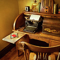 Job - Typist - A Person With Many Interests by Mike Savad