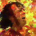Joe Cocker Colorful Palette Knife by Dan Sproul