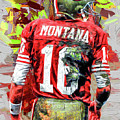 Joe Montana Football Digital Fantasy Painting San Francisco 49ers by David Haskett II