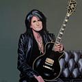 Joe Perry Of Aerosmith Painting by Paul Meijering