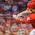 Joey Votto Baseball by Marvin Blaine