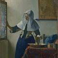 Johannes Vermeer Young_woman by Johannes Vermeer