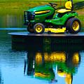 John Deere Mows The Water No 1 by Alan Look