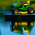 John Deere Mows The Water No 2 by Alan Look